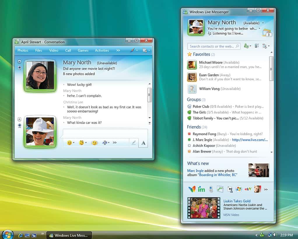 Windows Live Messenger 2008 While Windows Live Messenger