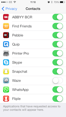 Apple Apps permissions