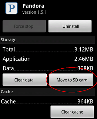 move to SD card