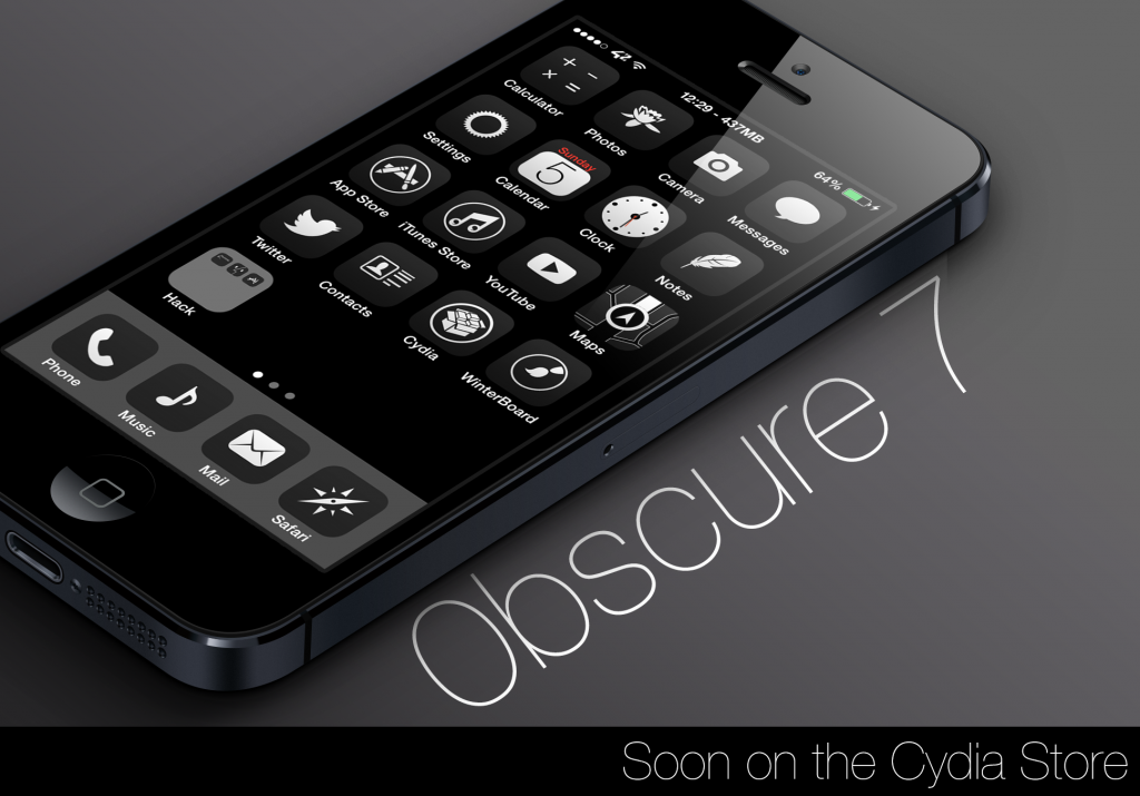 0bscure 7 is a iOS 7 specific theme for WinterBoard