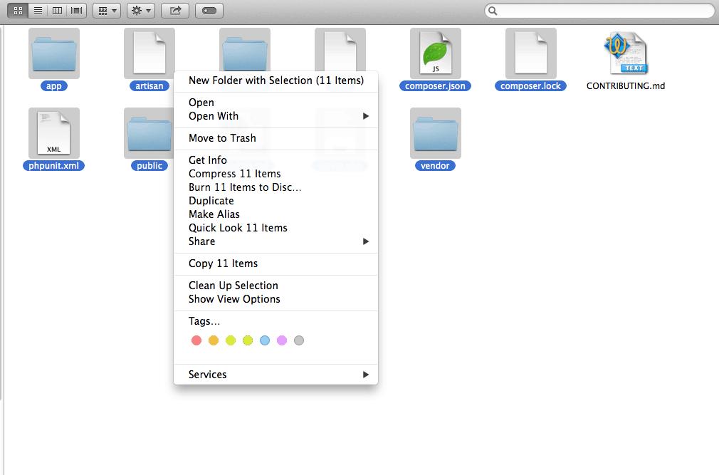 Organize files on mac