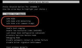 Safe Mode Boot Options