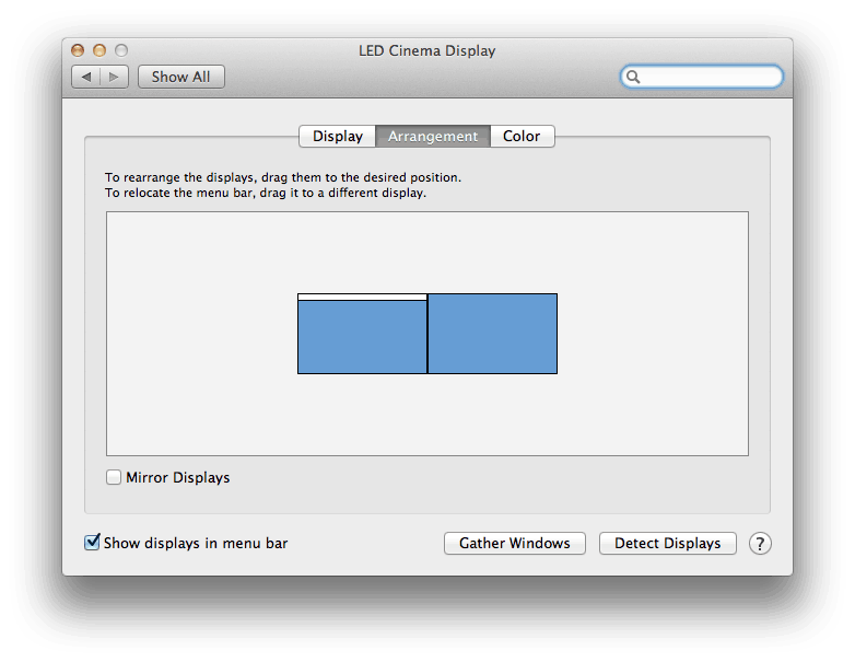 how to change primary monitor on mac