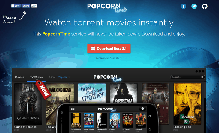 Popcorn Time Released For Android