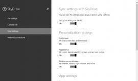 Windows 8.1 Sync Settings Enabled