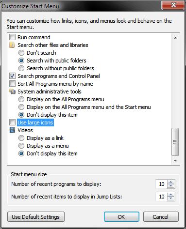 how to set taskbar icon size