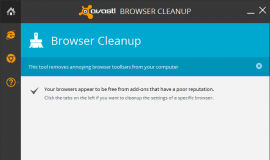 Avast Browser Cleanup Success