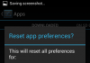 Reset App Preferences Confirm