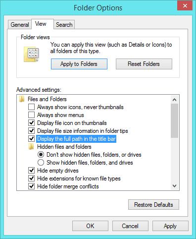 how to find file path of searched folder windows 10