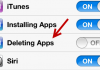 iOS Restrictions Deleting Apps