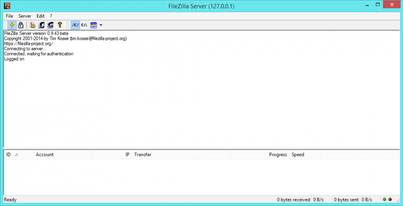 FileZilla Server Main
