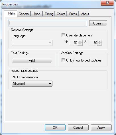DirectVobSub Configuration