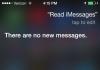 Siri Check iMessages