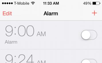 iOS 7 Alarm
