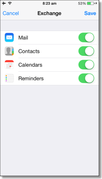 iPhone Contacts Sync