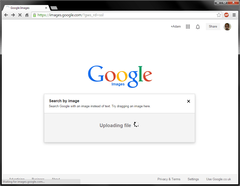 how to use google and bing to search by image