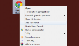Windows Firewall Context Menu