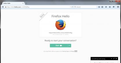 Firefox Hello Conversation