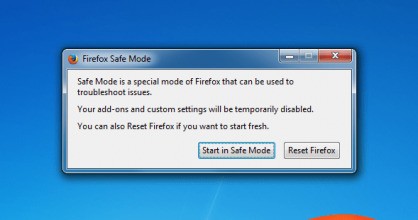 Firefox Safe Mode Prompt