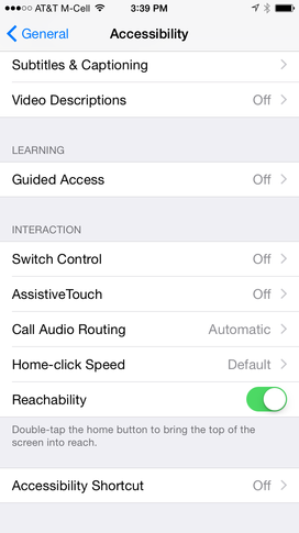 How To: Use or disable Reachability in iPhone 6