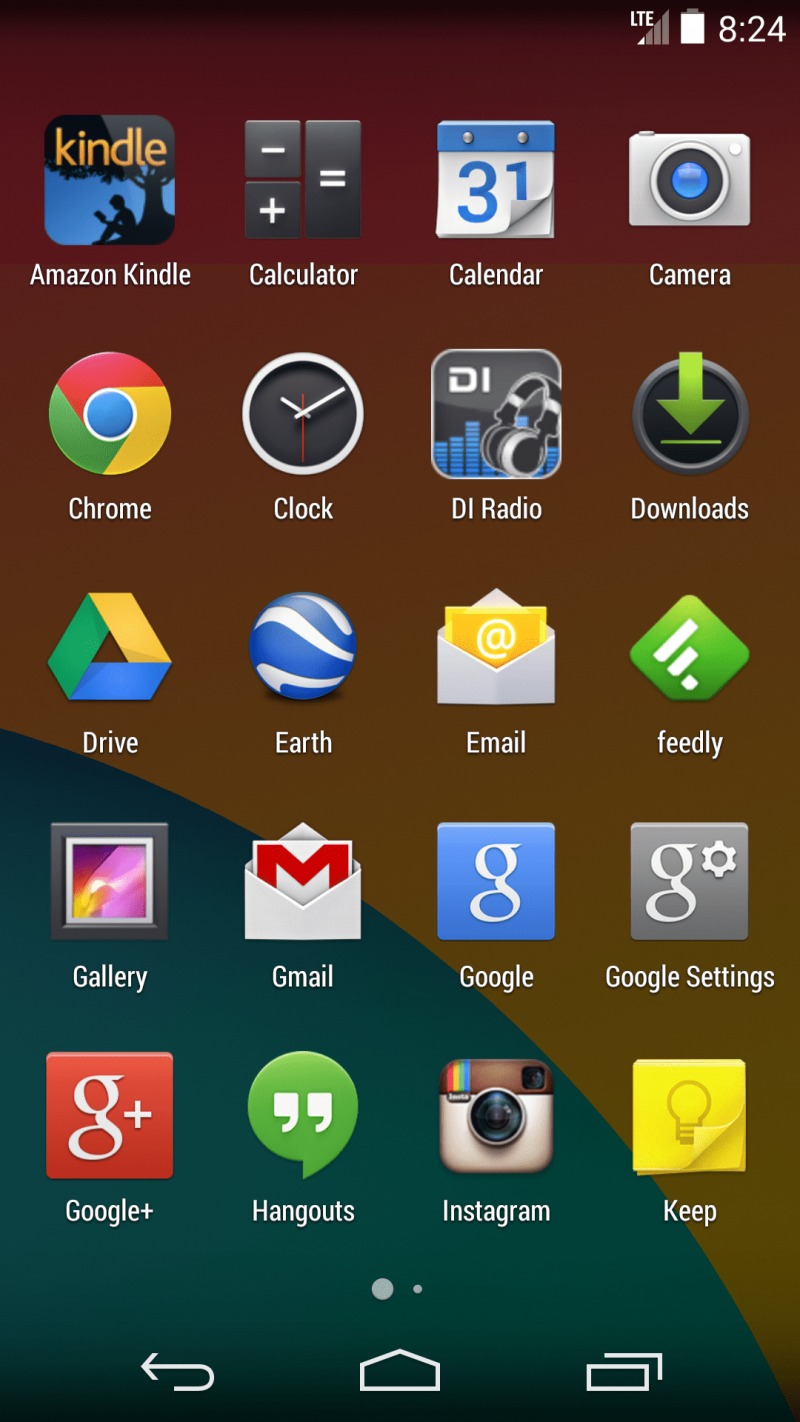 Android Home Screen Full