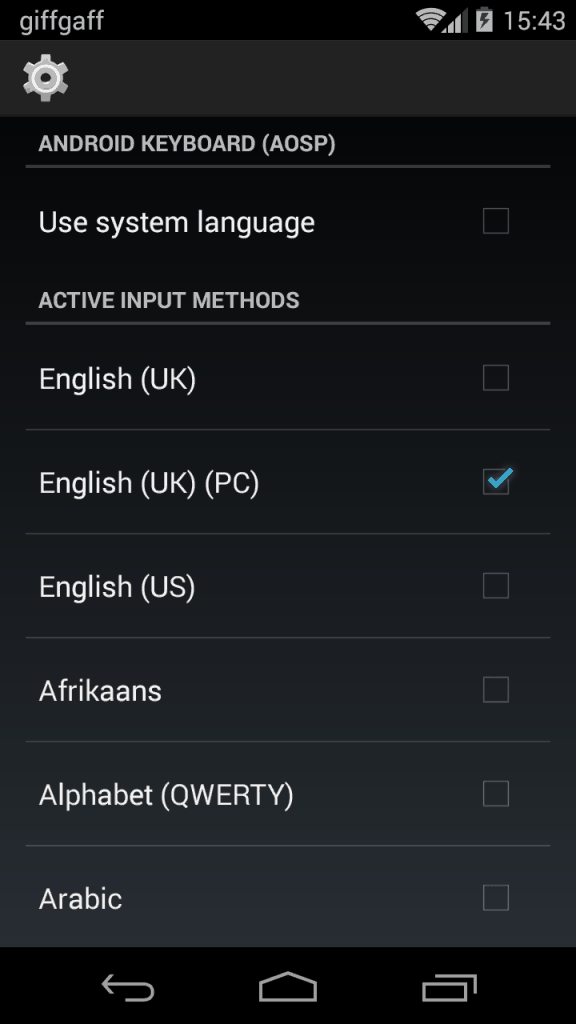 how to add keyboard on android