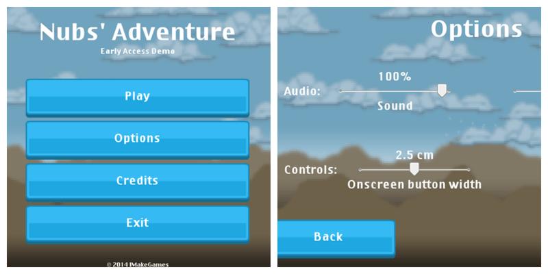 Nubs Adventure options