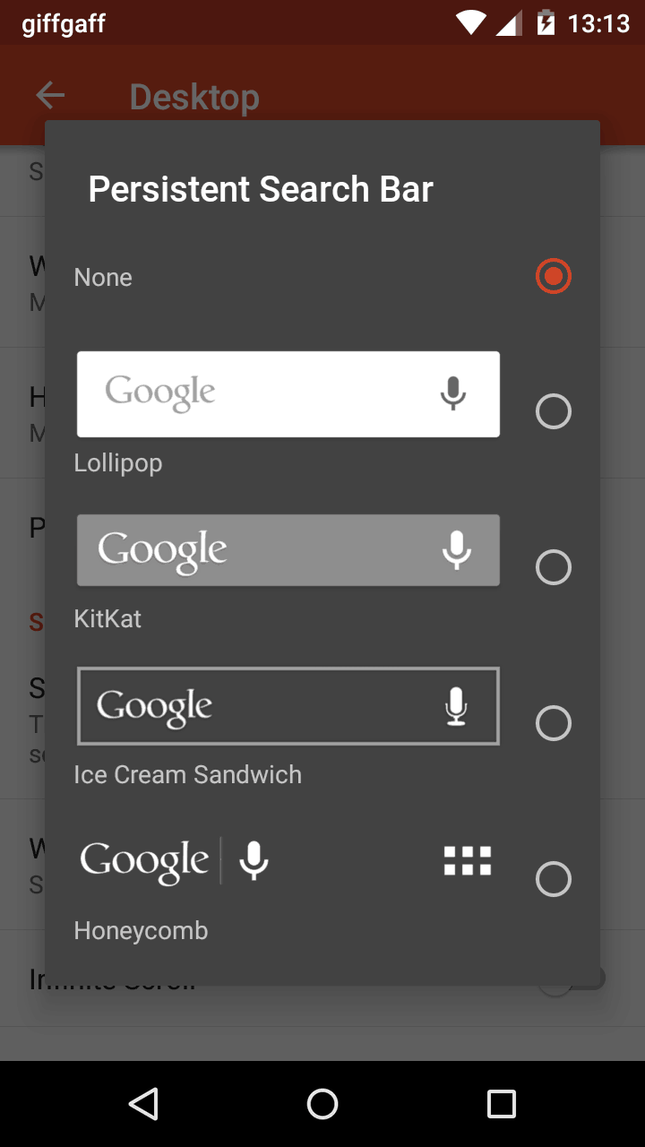 Google Search Bar App For Android