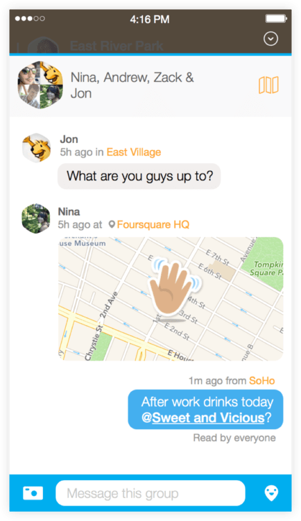 Swarm Private Messaging