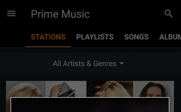 Amazon Prime Music Stations