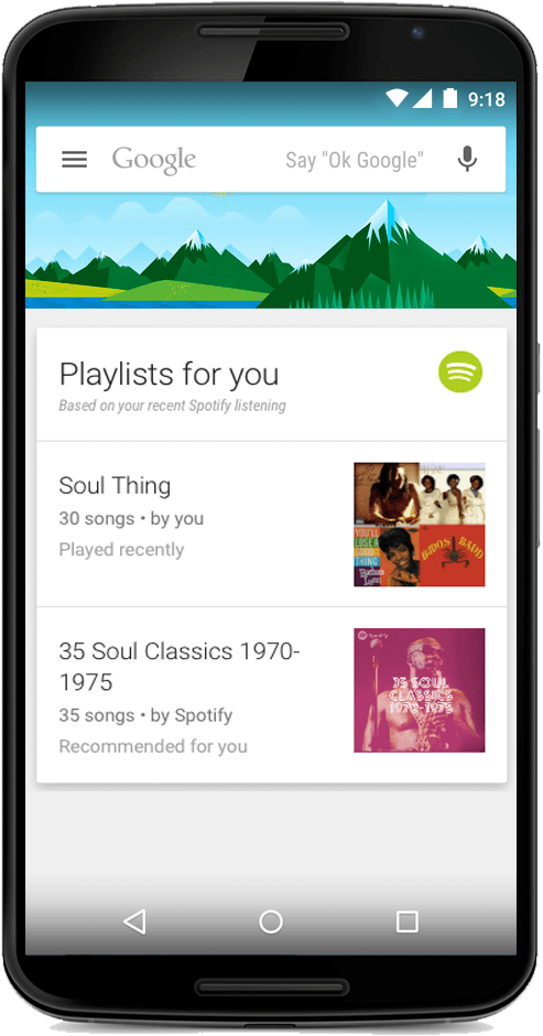 Spotify Google Now
