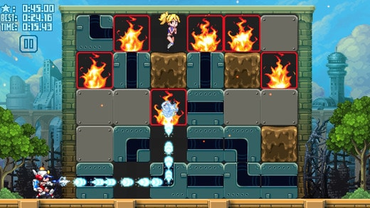 Mighty Switch Force! Hose It Down! Puzzle 2