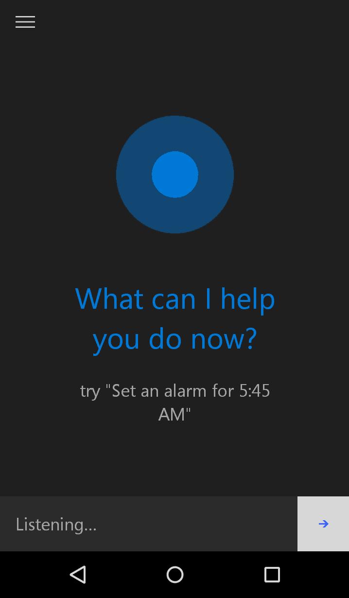 Cortana Listening