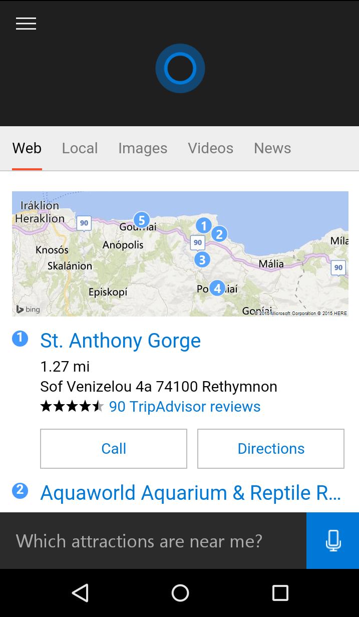 Cortana Search