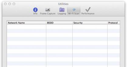 OS X Wi-Fi Scan