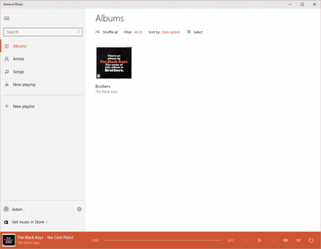 Groove Music Albums