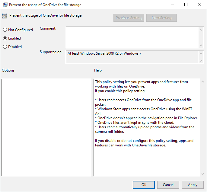 OneDrive Group Policy