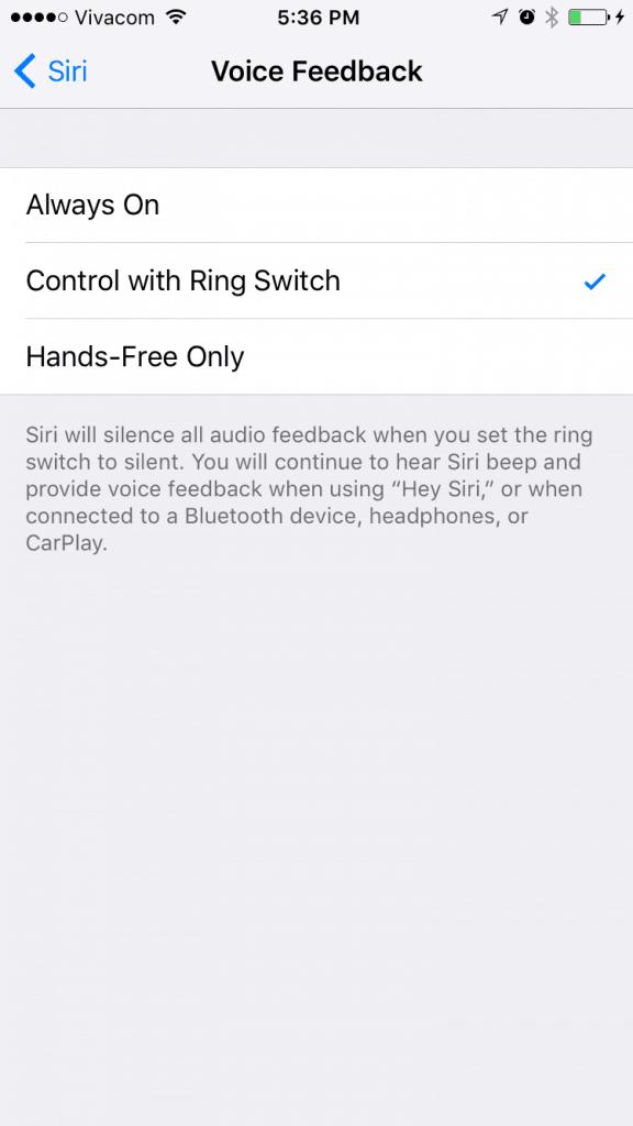 Flip ringer switch to silence Siri