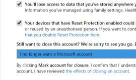 Microsoft Account Close