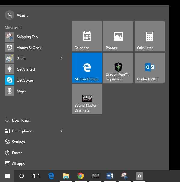 windows 10 how to search in start menu