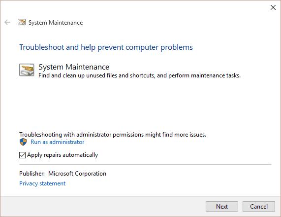 System Maintenance Tool