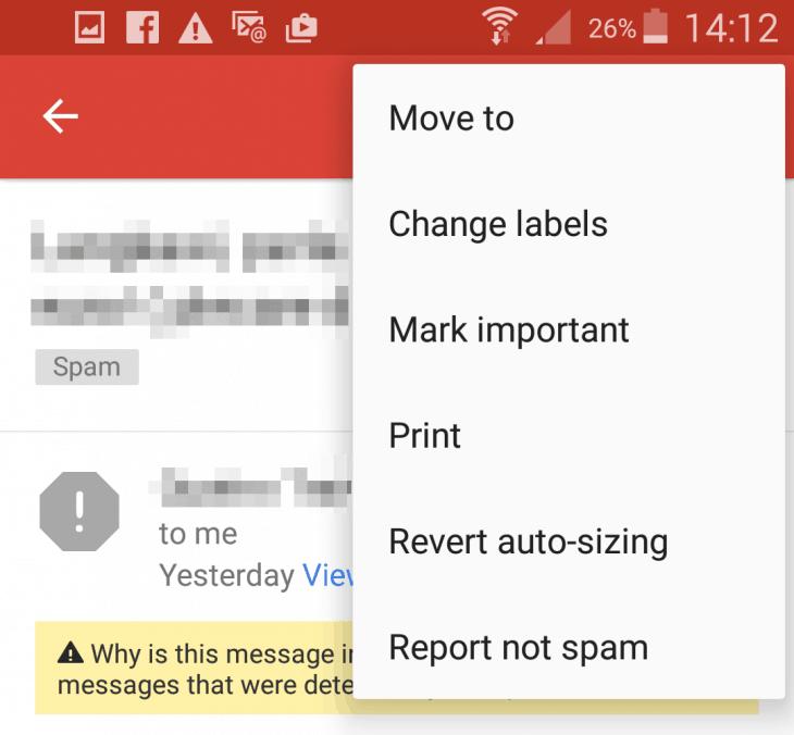 Gmail app - Mark important