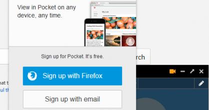 Firefox Hello + Pocket