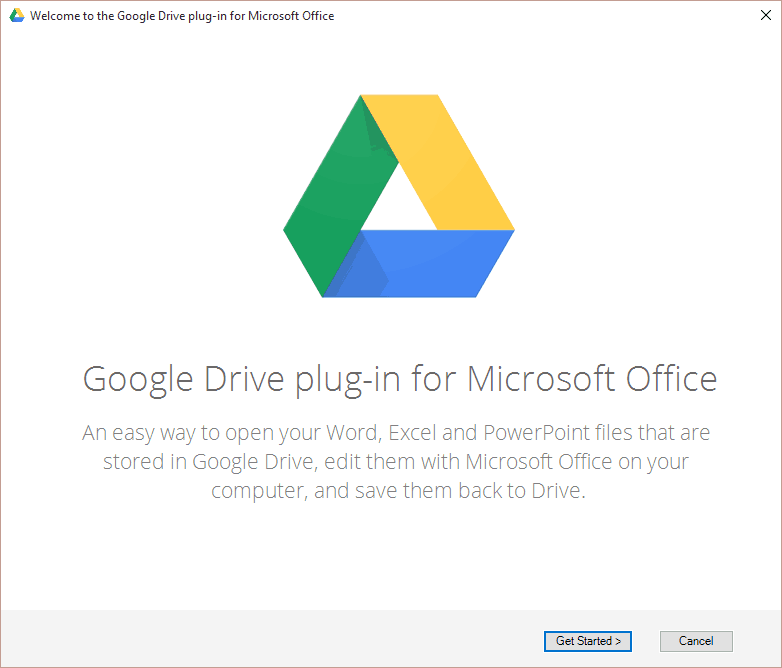 Google Drive Plug-in Office