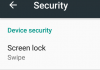Lock Screen Message Settings