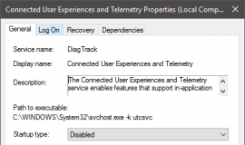 New Tracking Service Windows 10