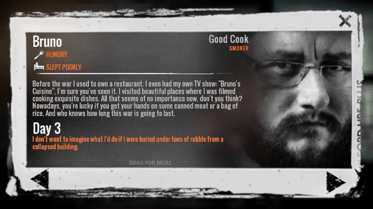 This War of Mine Character Bio