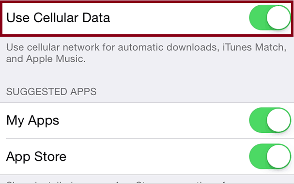 iOS Updates Use Cellular