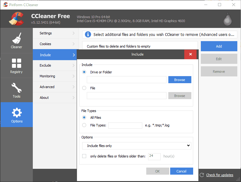 CCleaner Include