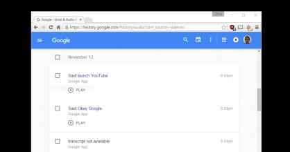 Google Audio Transcriptions